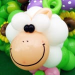 balloon sculpting sheep