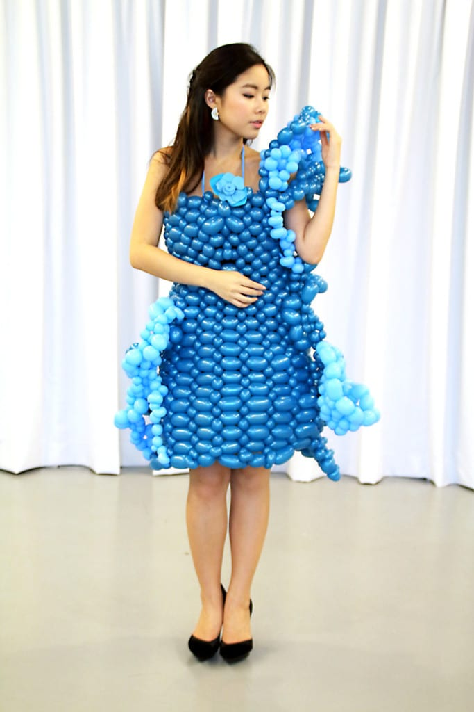 clarice balloon dress full body shot