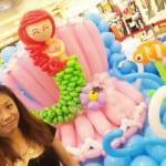 Jocelyn and Mermaid Display - Yishun Northpoint