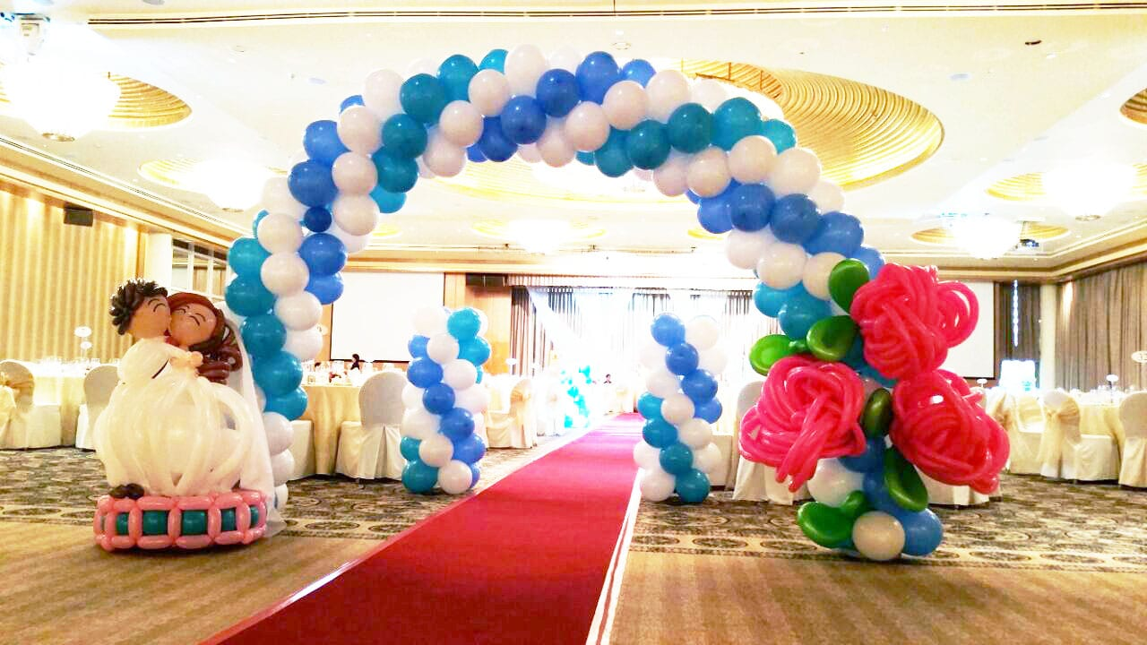 Wedding balloon decorations jocelynballoons the for Ballon wedding decoration