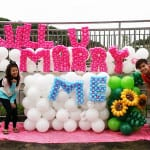 balloon decoration for wedding proposal