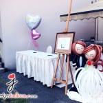 balloon wedding bride and groom 2