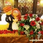 balloon wedding couple sculptures