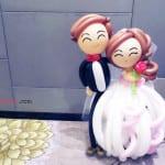 balloon wedding dolls