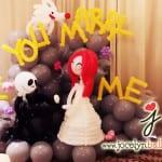 balloon wedding proposal