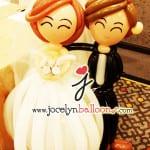 life size balloon wedding couple