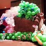 rabbit wedding theme balloon photobooth