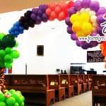 rainbow balloon arch for wedding