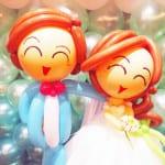 wedding balloon couples