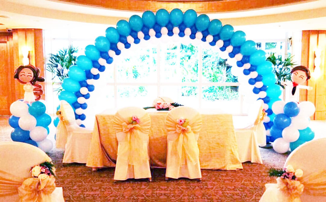 Wedding balloon decorations jocelynballoons the for Balloon decoration company
