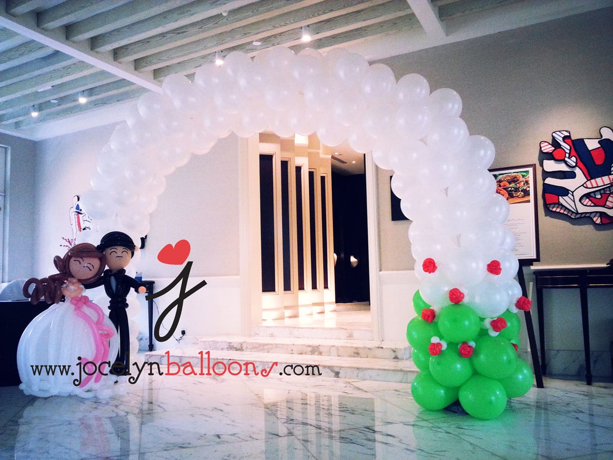Wedding balloon decorations jocelynballoons the leading