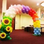 balloon rainbow arch decoration