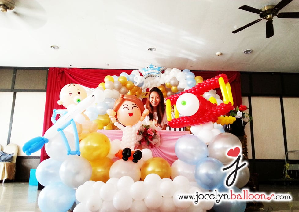 Balloon decoration for birthday party jocelynballoons for Balloon decoration company