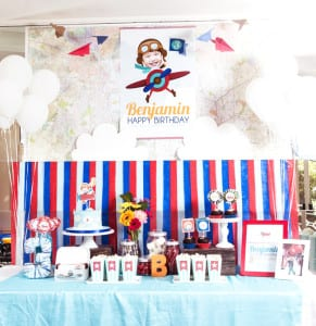 boys-airplane-themed-birthday-party-dessert-table-ideas
