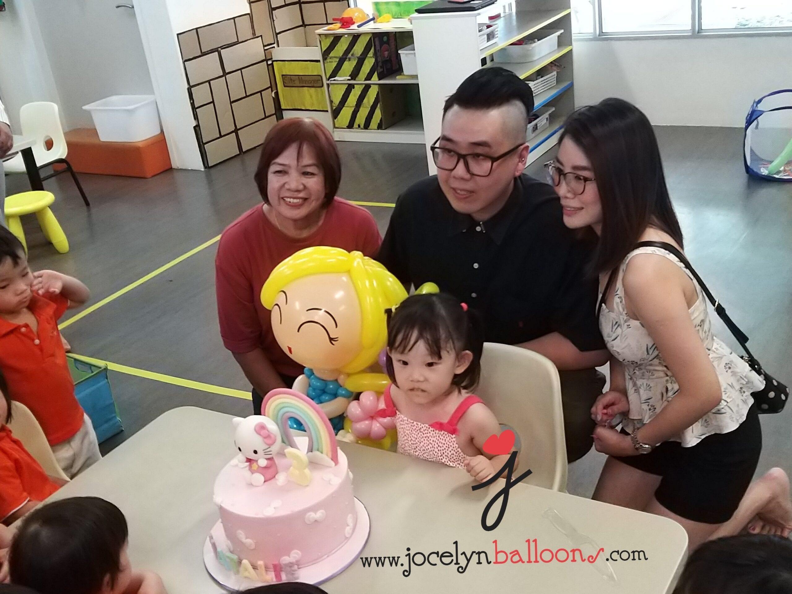 Balloon sculpting Singapore childcare Centre